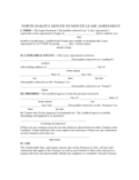 North Dakota Month to Month Lease Agreement