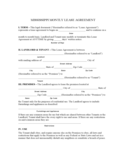 Mississippi Monthly Lease Agreement