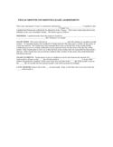 Texas Monthly Lease Agreement Form