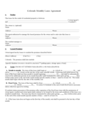 Colorado Month to Month Lease Agreement