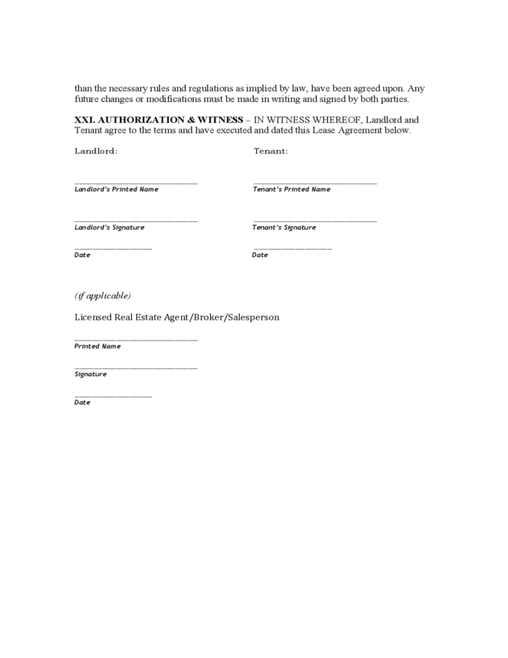 Rhode Island Month To Month Lease Agreement Template Free