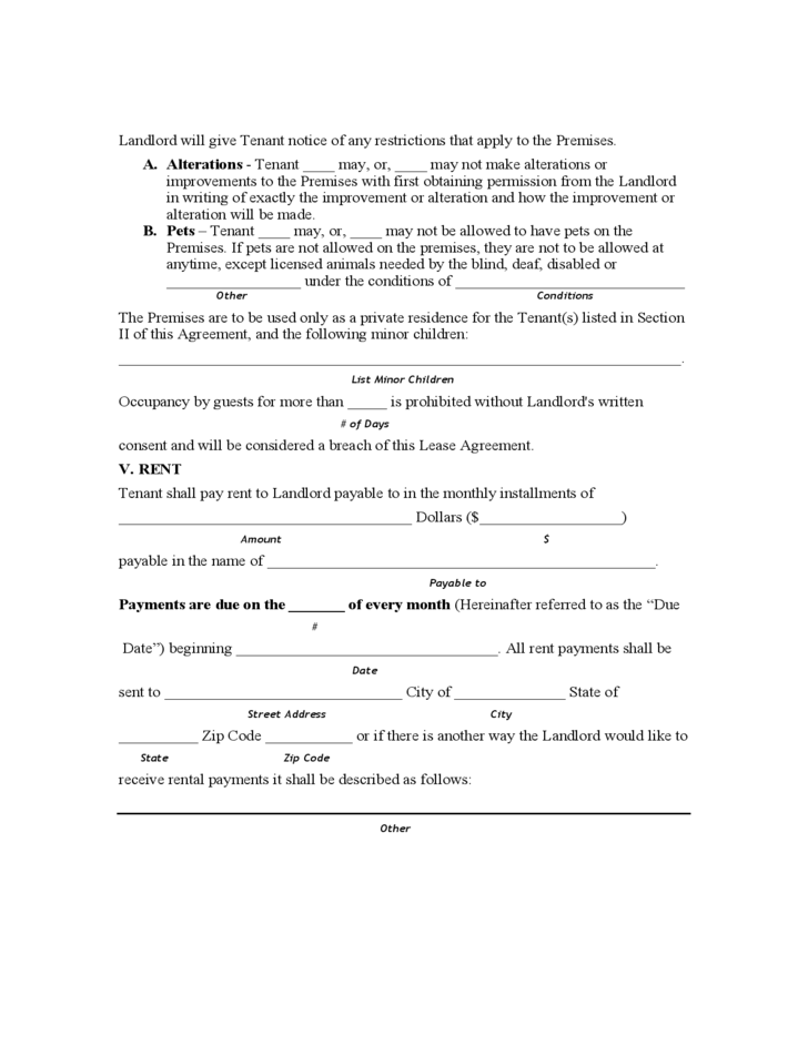 Hawaii Month To Month Lease Agreement Free Download