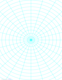 Polar Graph Paper with 15 Degree Angles and 1/2-Inch Radials