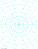 Polar Graph Paper with 15 Degree Angles and 1-Inch Radials