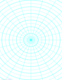 Polar Graph Paper with 15 Degree Angles and 1/2-Inch Radials on Letter-Sized Paper