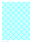 Graph Paper for Quilting with 8 Lines per Inch and Heavy Index Lines