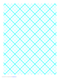 Graph Paper for Quilting with 3 Lines per Inch and Heavy Index Lines