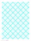 Graph Paper for Quilting with 4 Lines per Inch and Heavy Index Lines
