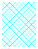 Graph Paper for Quilting with 5 Lines per Inch and Heavy Index Lines