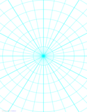 Polar Graph Paper with 10 Degree Angles and 1-Inch Radials