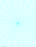 Polar Graph Paper with 15 Degree Angles and 1/8-Inch Radials