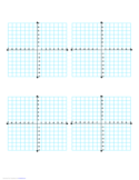 Multiple Coordinate Graphs 4-per-Page