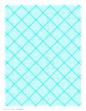 Graph Paper for Quilting with 9 Lines per Inch and Heavy Index Lines