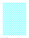 Graph Paper for Quilting with 1 Line per cm Ruled Diagonally