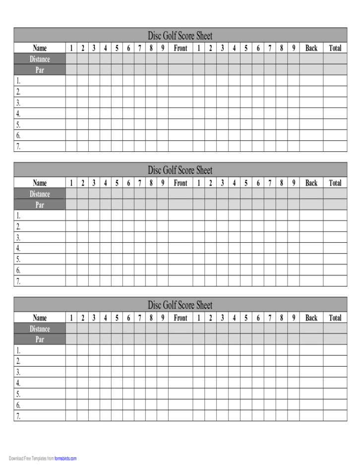 Magic image pertaining to disc golf scorecard printable