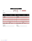 Badminton Score Sheet Template Free Download