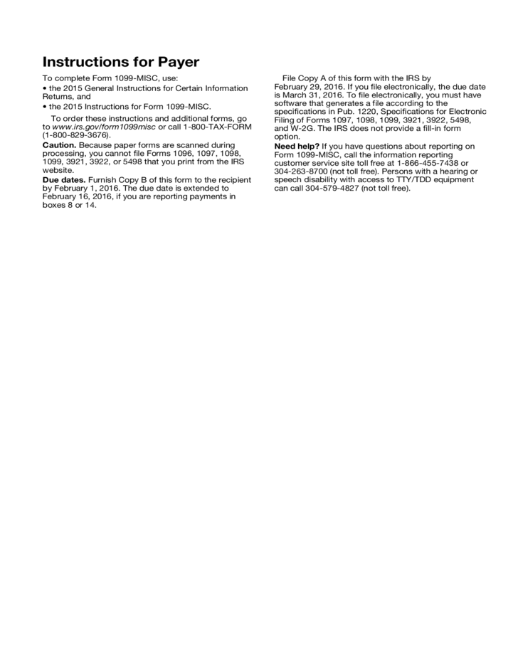 IRS Employee 1099 Form Free Download