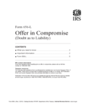 Form 656-L - Offer in Compromise (Doubt as to Liability) (2012)