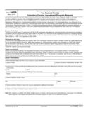 Form 14429 - Tax Exempt Bonds Voluntary Closing Agreement (2013)