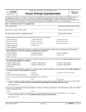 Form 14414 - Group Ruling Questionnaire (2012)