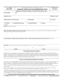 Form 14411 - Systemic Advocacy Issue Submission Form (2015)