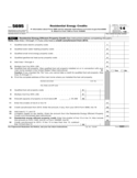 Form 5695 - Residential Energy Credits (2014)