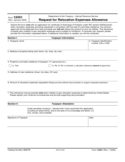 Form 12451 - Request for Relocation Expenses Allowance (2005)