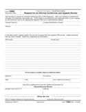 Form 12009 - Request for an Informal Conference and Appeals Review (2006)