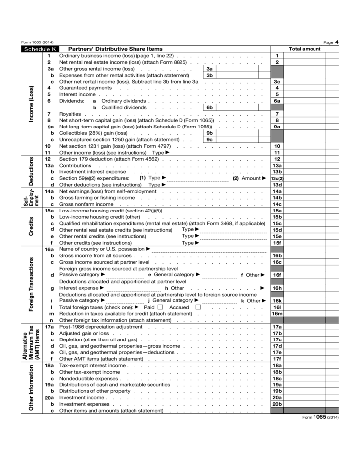 form 1065 u.s. return of partnership income  Form 10 - U.S. Return of Partnership Income (10) Free ...