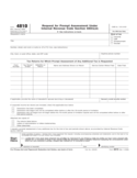 Form 4810 - Request for Prompt Assessment under Internal Revenue Code Section 6501 (2012)