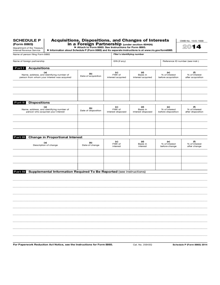 Tax Form 8865 Instructions