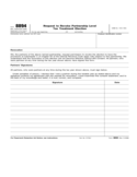 Form 8894 - Request to Revoke Partnership Level Tax Treatment Election (2008)