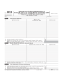 Form 8818 - Optional Form to Record Redemption of Series EE and I U.S. Savings Bonds (2007)