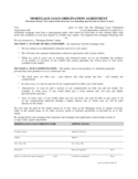 Sample Mortgage Loan Origination Agreement