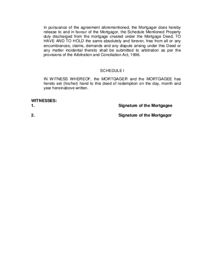 Blank Deed of Mortgage Form Free Download – Blank Mortgage Form