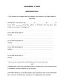 Template of Mortgage Deed
