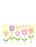 Mother's Day Flower Card Template Free Download