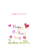 Mother's Day Card Template - Flower and Grass Free Download