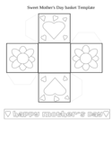 Sweet Mother's Day Basket Templates