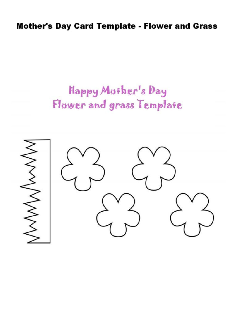 Mother's Day Flower and Grass Craft