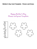 Mother's Day Flower and Grass Craft Free Download