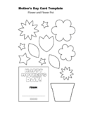 Mother's Day Flower Pot Card Template Free Download