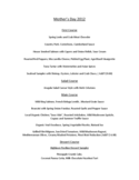 Mother's Day Menu Template and Designs Free Download