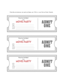 Movie Ticket Party Invitation Template Free Download