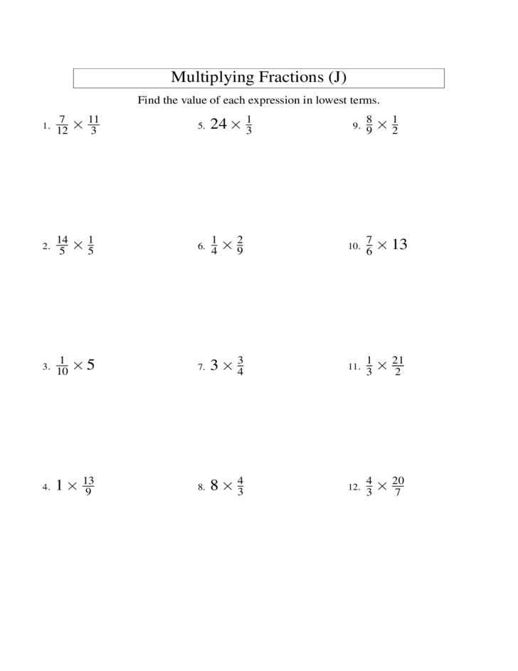 Multiplying Fractions And Whole Numbers Worksheets multiply – Multiply Fraction by Whole Number Worksheet