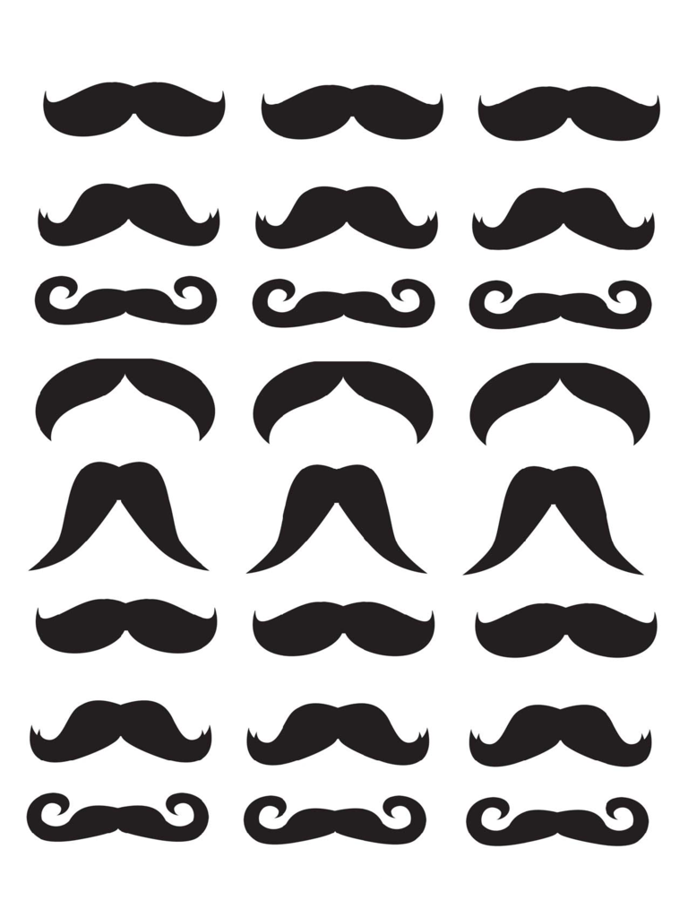 Mustache template 2 free templates in pdf word excel for Mustache print out template