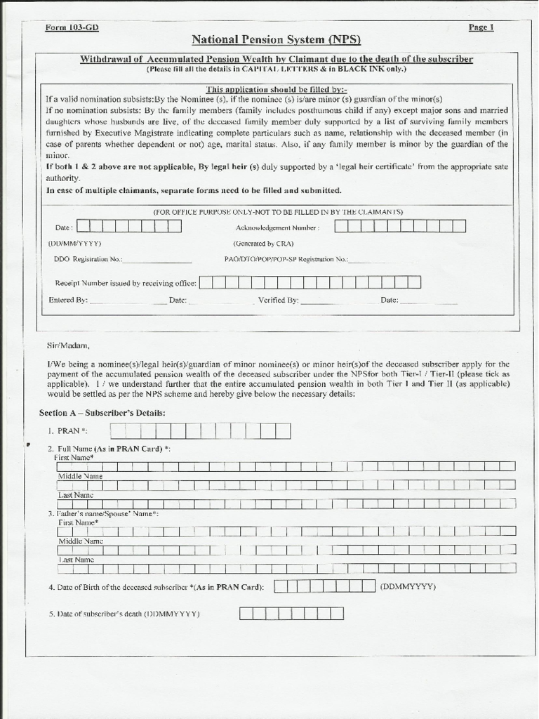 national pension system form