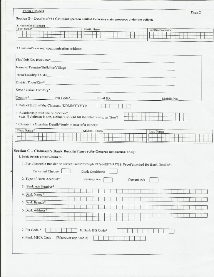 national insurance application form pdf