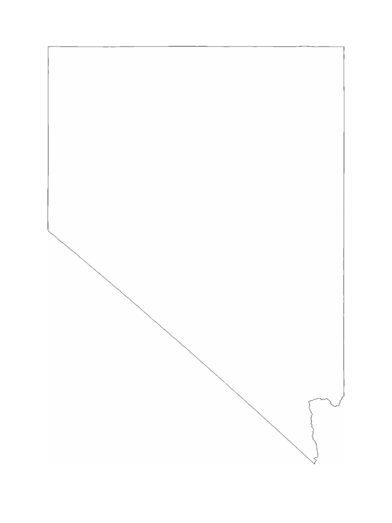 Nevada State Outline Map