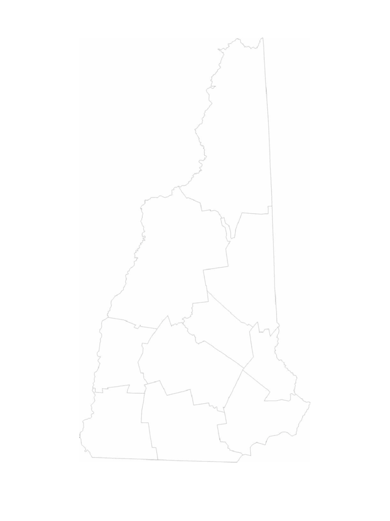 Blank New Hampshire County Map